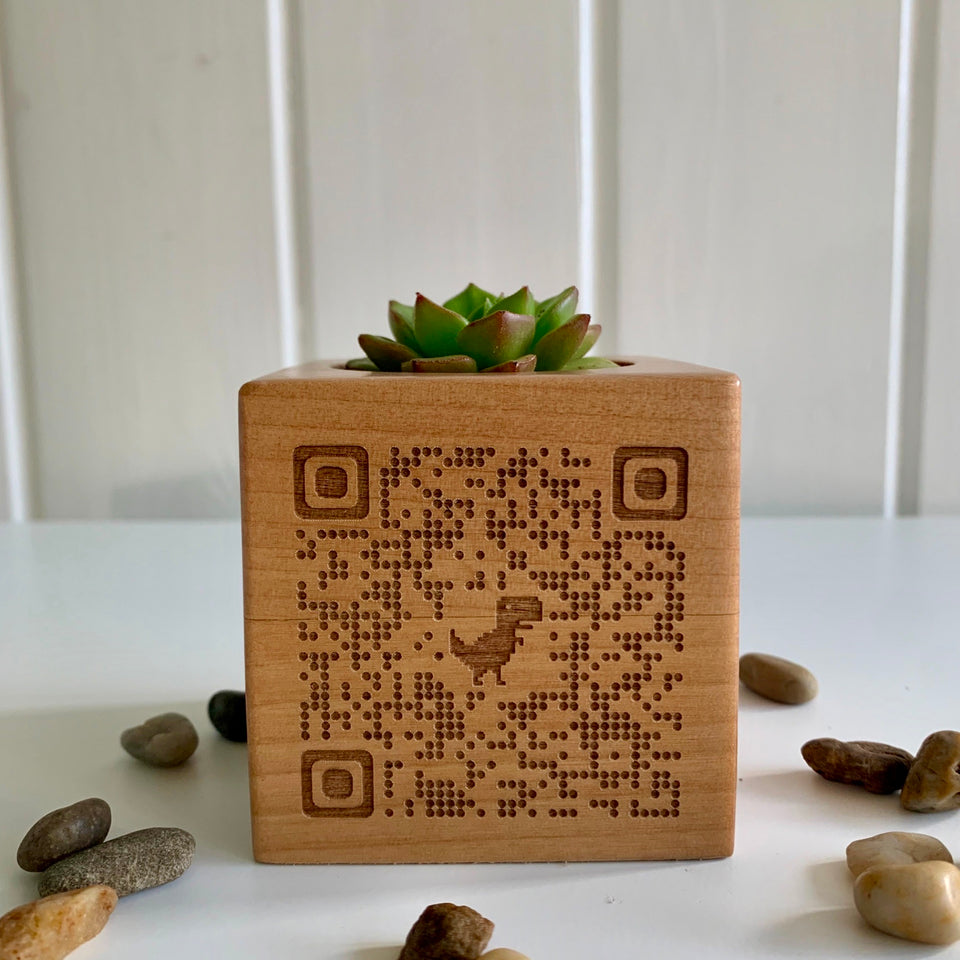 Engrave Your Logo, QR Code or More