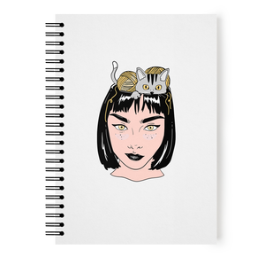 Cat Head Notebook