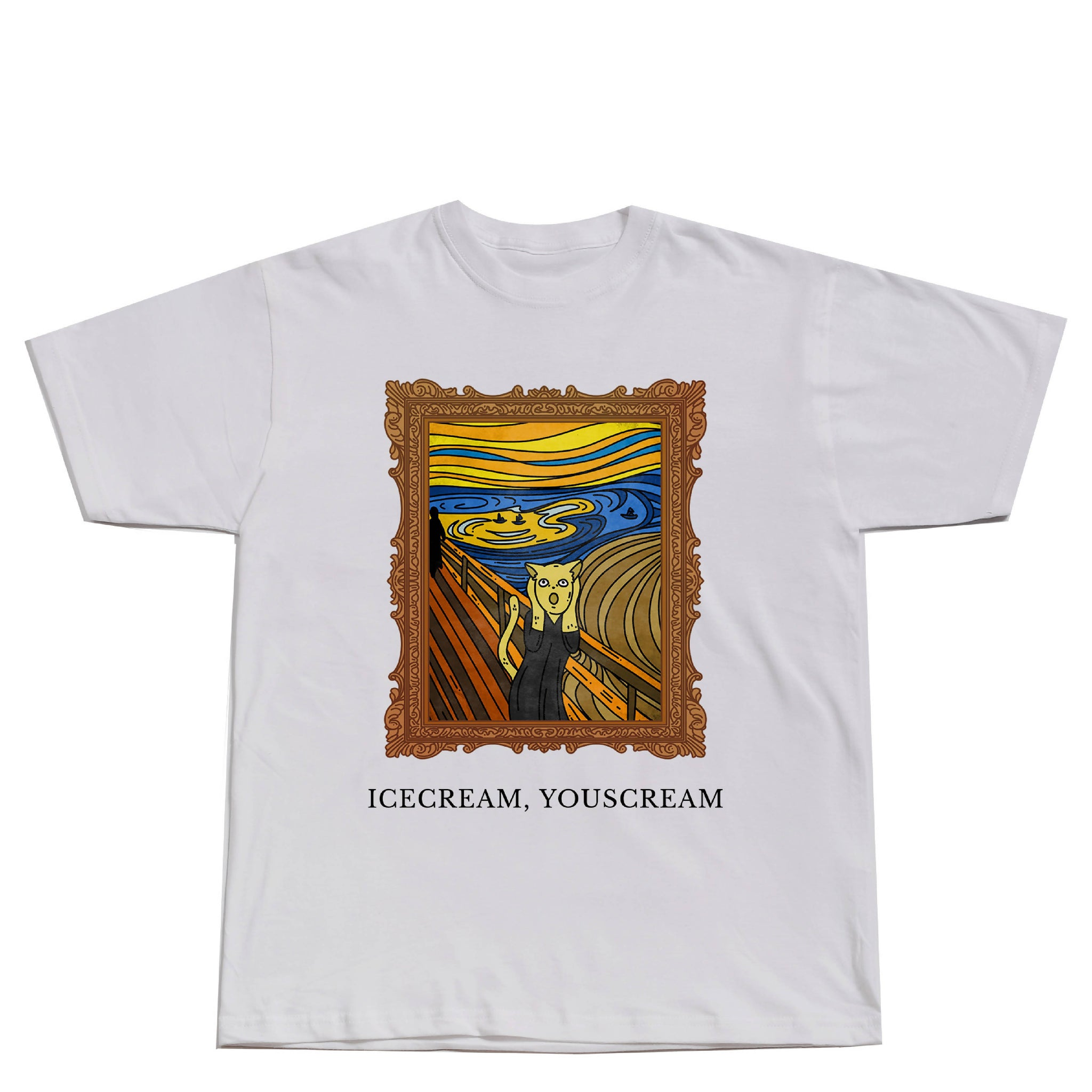 The Scream Painting Cat Shirt
