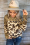 Animal Mixed Printed Long Sleeve Knit Top