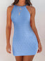 Women's Dress Solid Bodycon Round Neck Sleeveless Summer Daily Casual Mini Dress