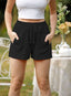 Women's Shorts Solid Pocket Drawstring High Waist Straight Casual Daily Shorts