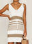 Khaki Women's Dress Striped Tie Front Mini Dress LC225941-16