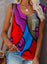 Purple Women's Tank Tops Color Block Abstract Tank Tops LC2562491-8
