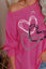 Heart Print Pullover Long Sleeve Top