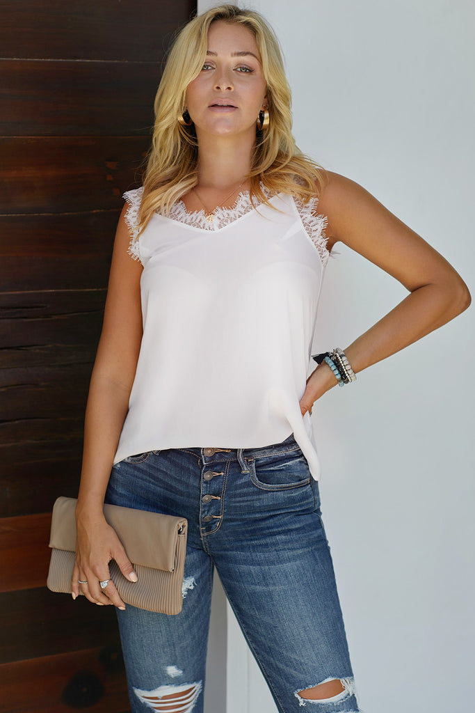 Facade Lace Cami Tank Top