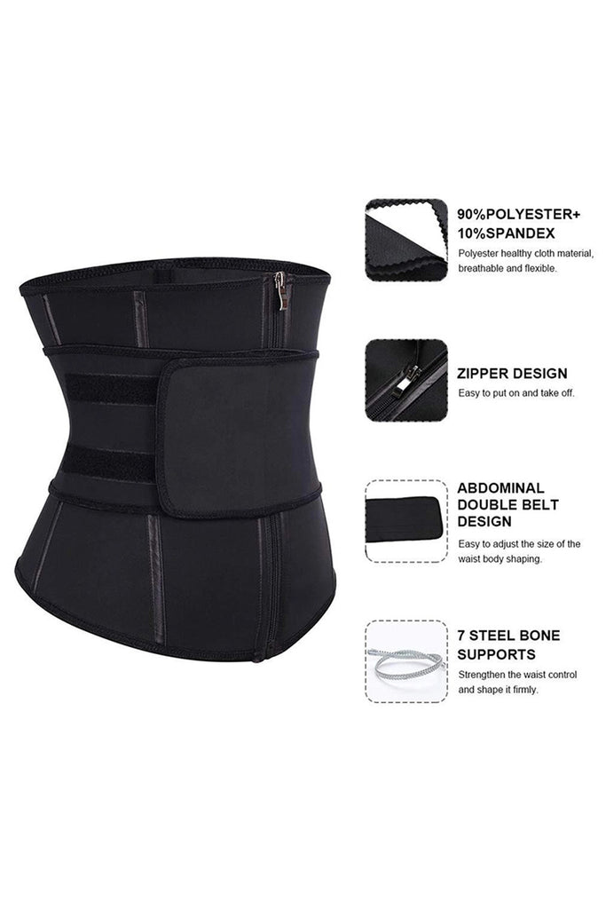 Zipper Front Lose Weight Tummy Compression Belt Waist Trainer