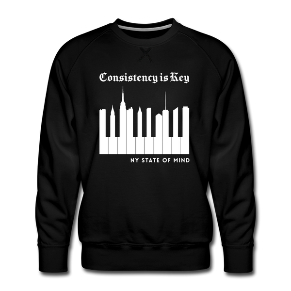 Consistency Is Key Men's Premium Sweatshirt - black
