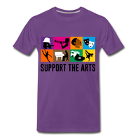 Support The Arts Premium T-Shirt - purple