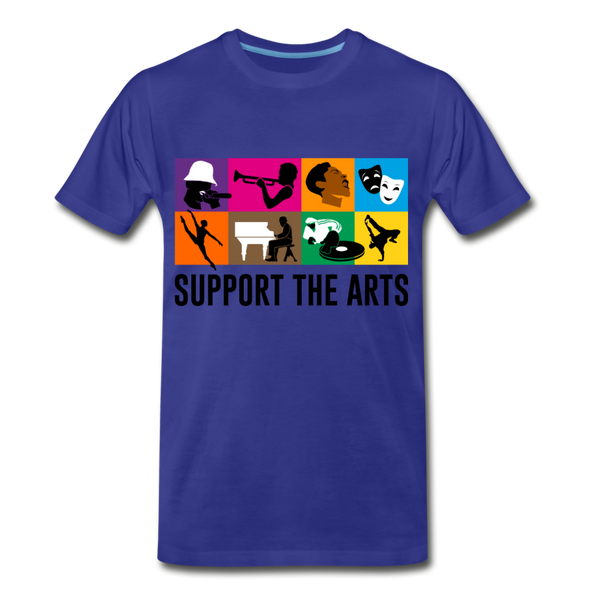 Support The Arts Premium T-Shirt - royal blue