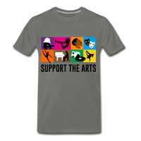 Support The Arts Premium T-Shirt - asphalt gray