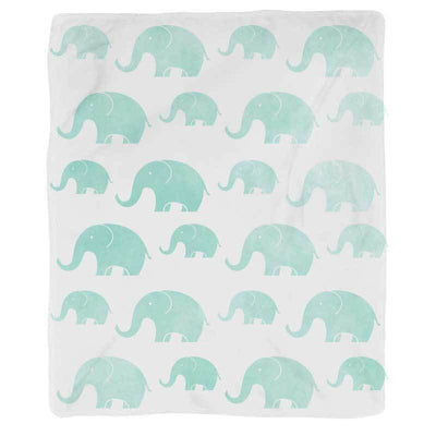 Elephant Repeat Throw Blanket