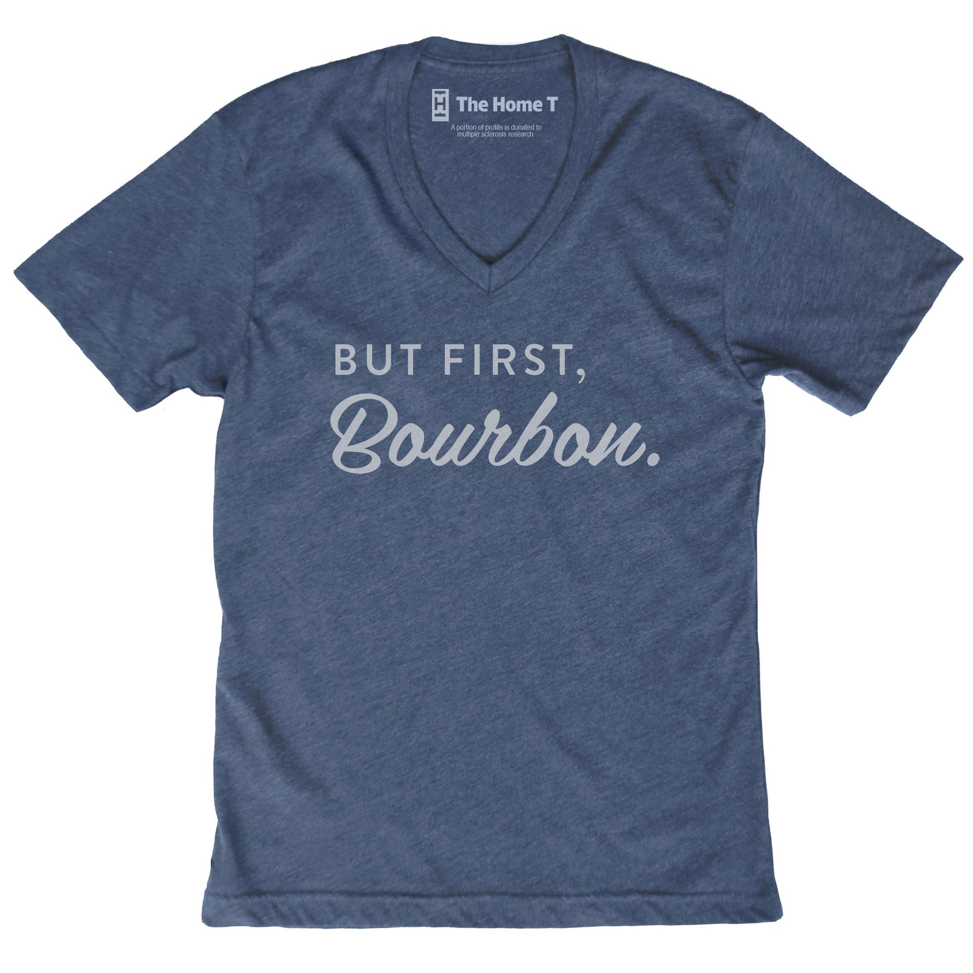 But First, Bourbon Shirts The Home T XS Athletic Grey Crew Neck