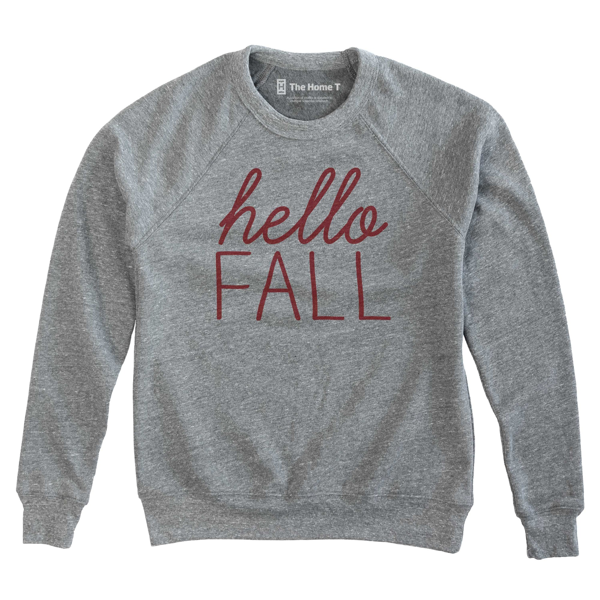 Hello Fall The Home T XS Athletic Grey