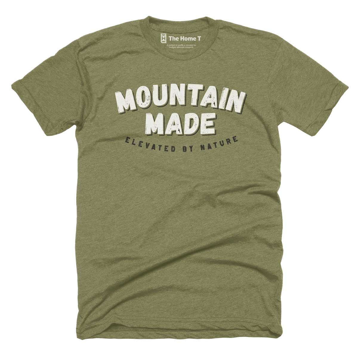 Mountain Made. Elevated by nature. Navy Crew.