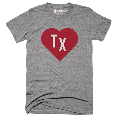 Texas Red State Heart