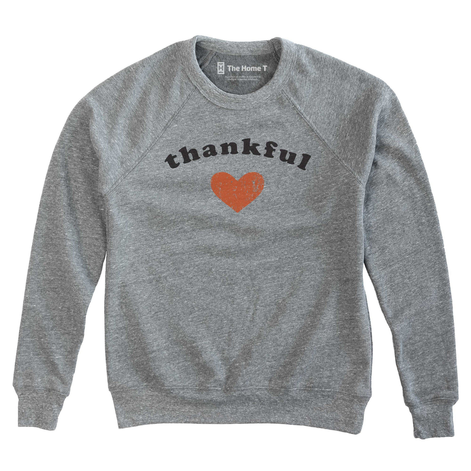 Thankful Heart Crew Neck Sweatshirt The Home T XS CREW NECK