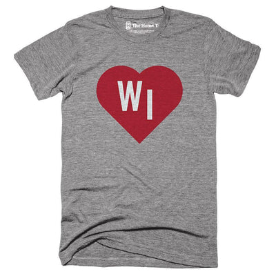 Wisconsin Red State Heart