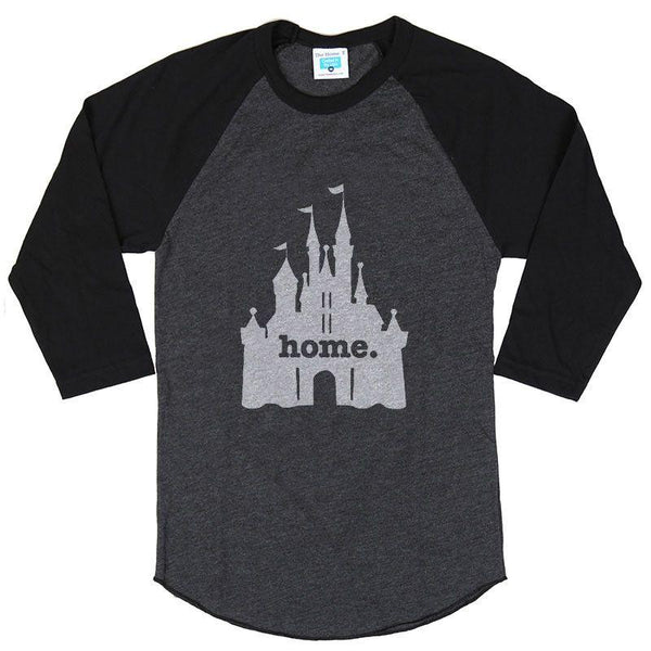 home at the castle baseball tee the home t. Black Bedroom Furniture Sets. Home Design Ideas