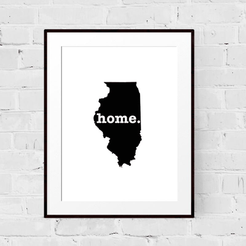 Illinois Art Print