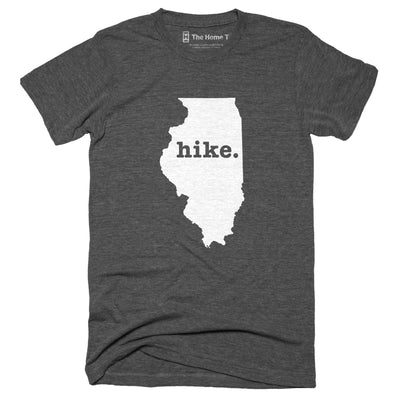 Illinois Hike Home T-Shirt Outdoor Collection The Home T XXL Grey