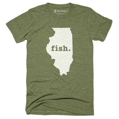 Illinois Fish Home T-Shirt Outdoor Collection The Home T XXL Army Green