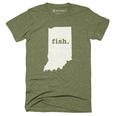 Indiana Fish Home T-Shirt Outdoor Collection The Home T XXL Army Green
