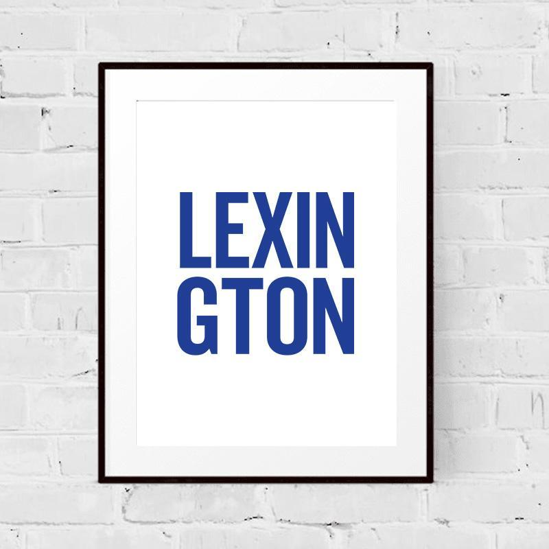 Lexington College Town Print
