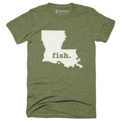 Louisiana Fish Home T-Shirt Outdoor Collection The Home T XXL Army Green