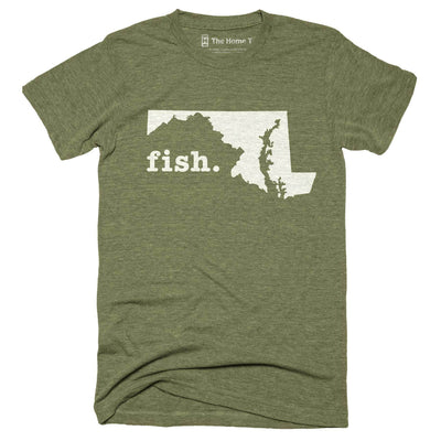 Maryland Fish Home T-Shirt Outdoor Collection The Home T XXL Army Green