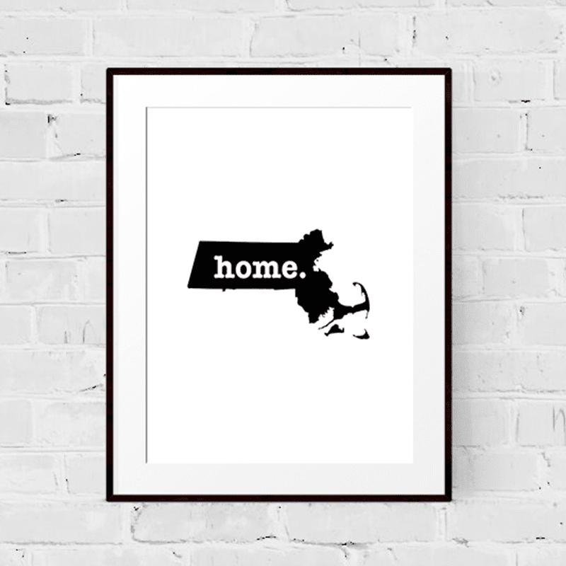 Massachusetts Art Print