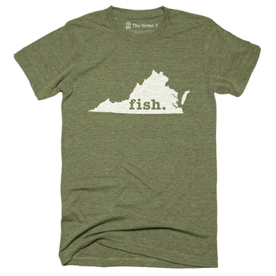 Virginia Fish Home T-Shirt Outdoor Collection The Home T XXL Army Green