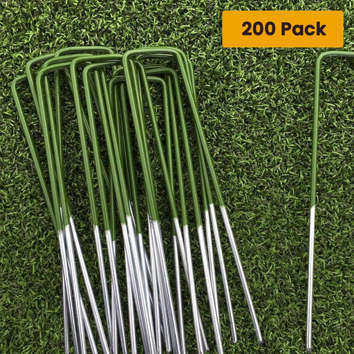 Pack of 200 Synthetic Weed Mat Pins or Pegs