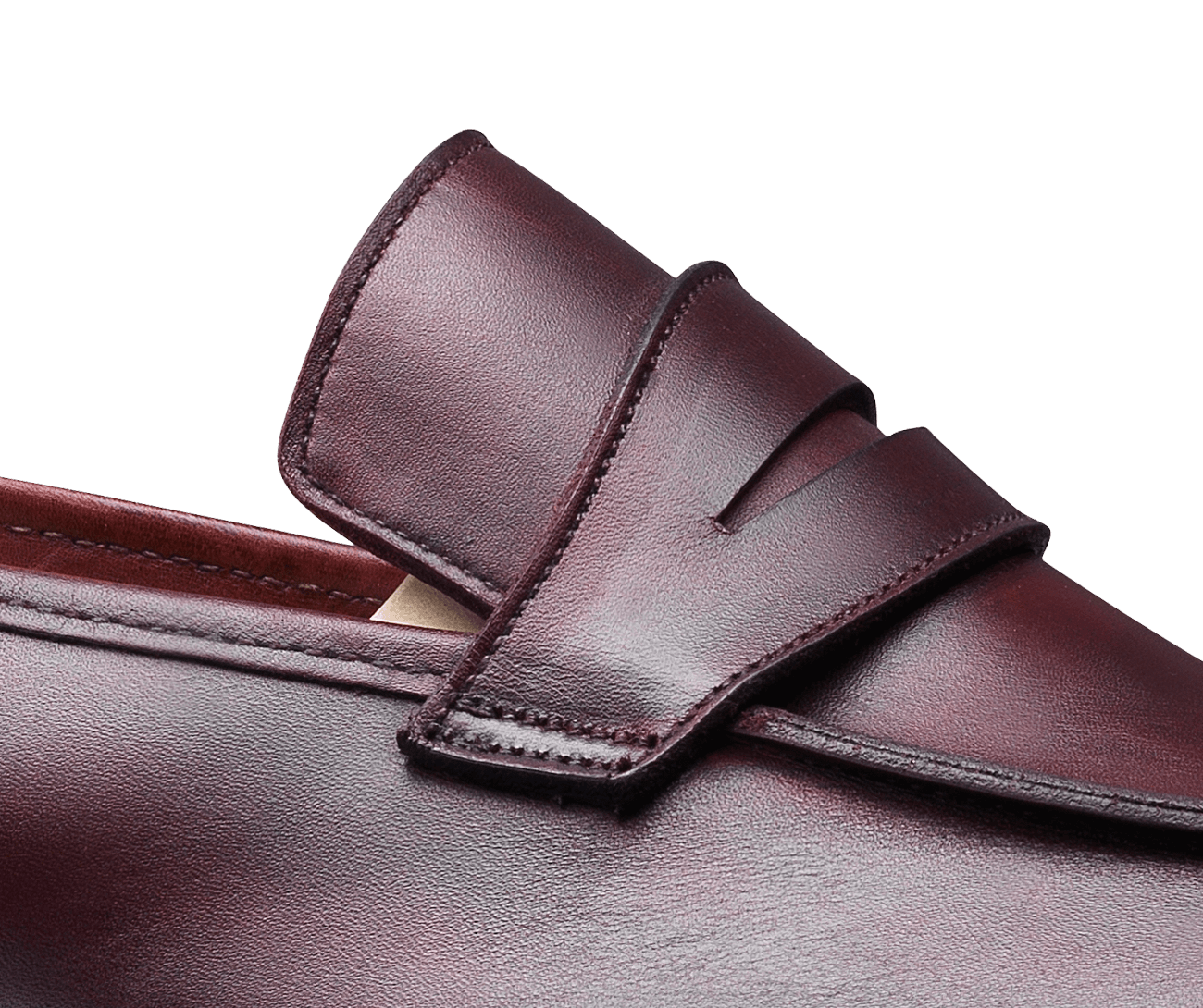 Lucy Burgundy Burnished Calf