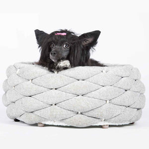 Laboni in- en outdoormand in zilver met hond