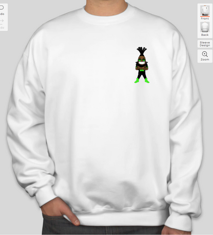 1st Klase Decal Crewneck Sweatshirt - White