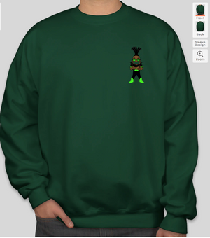 1st Klase Decal Crewneck Sweatshirt - Hunter Green