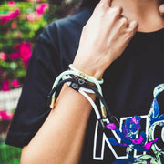 Good Times New School Bracelet (Diamond/Gold) - Electric Family Official Artist Merchandise