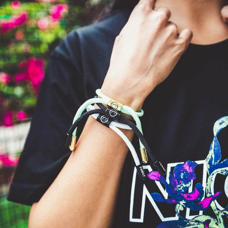 Good Times New School Bracelet (Diamond/Gold) - New School Bracelet -  Electric Family-  Electric Family Official Artist Merchandise