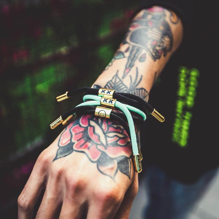 XX New School Bracelet (Black/Gold)