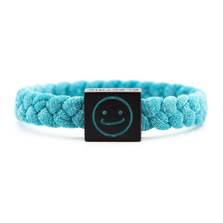 Smiley Bracelet Teal - Original Woven - Electric Family Official Artist Merchandise