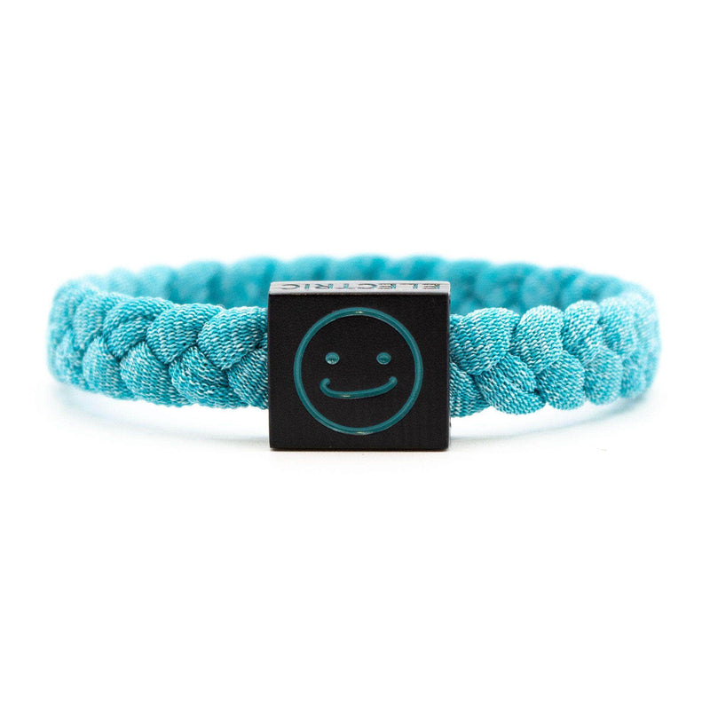 Smiley Bracelet Teal - Original Woven -  Electric Family-  Electric Family Official Artist Merchandise