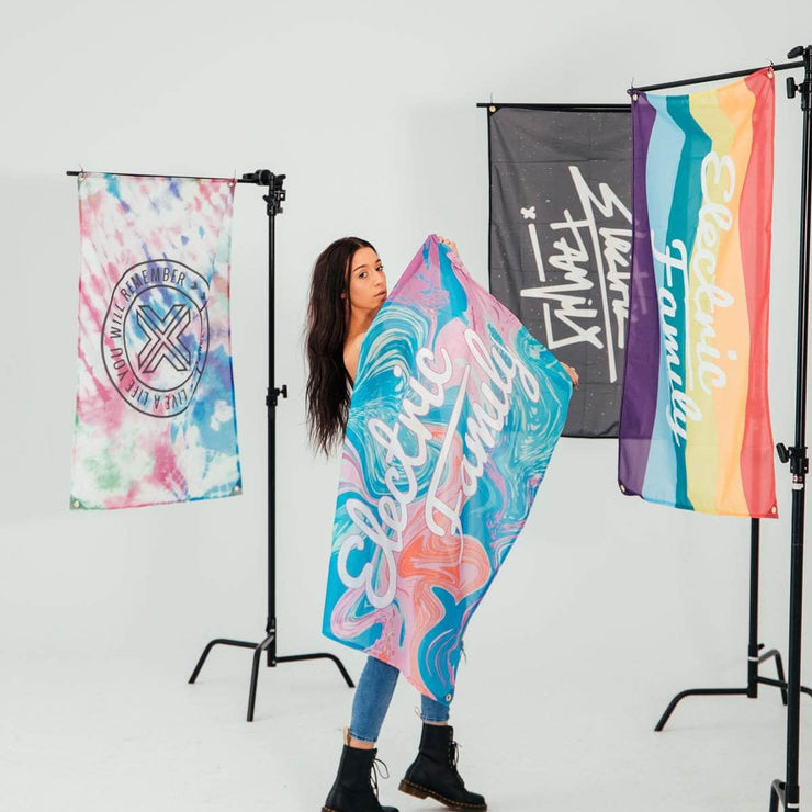 Marble Script Flag - Flag - Electric Family Official Artist Merchandise