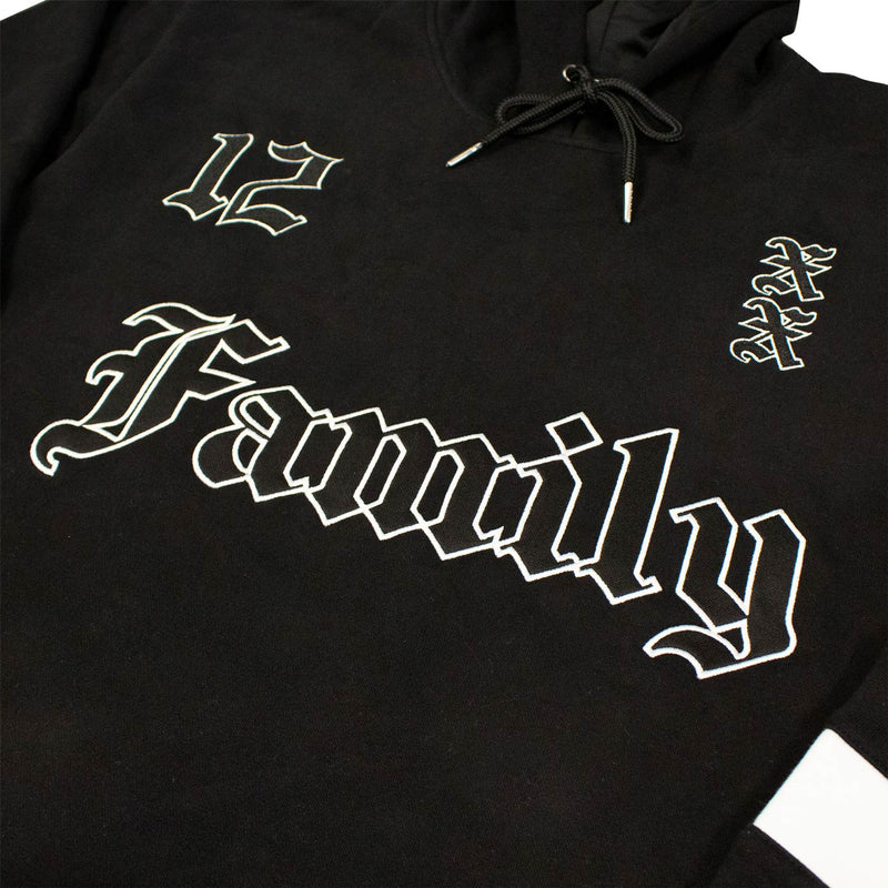 Old English Family Hockey Hoodie - Black - Hockey Jersey - Electric Family Official Artist Merchandise