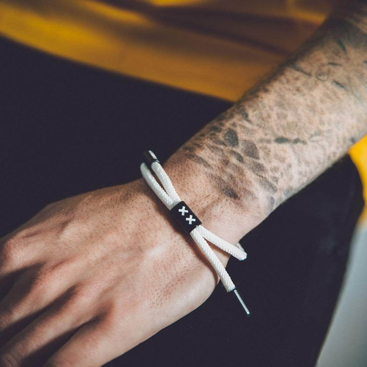 XX New School Bracelet (White/Black)