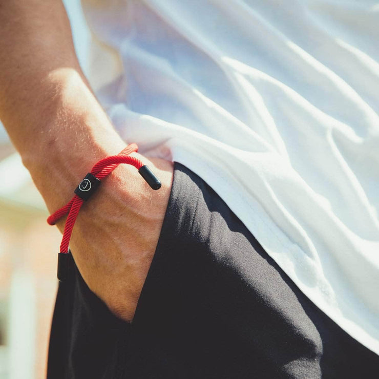 Good Times New School Bracelet (Red/Black) - New School Bracelet - Electric Family Official Artist Merchandise