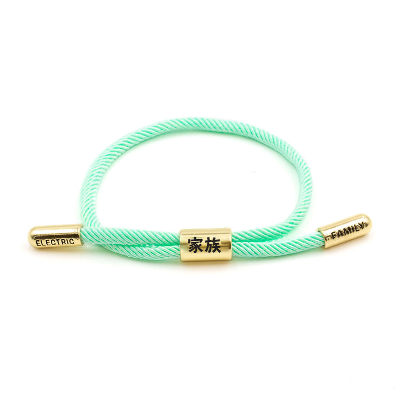 Kazoku New School (Aqua/Gold) - New School Bracelet -  Electric Family-  Electric Family Official Artist Merchandise