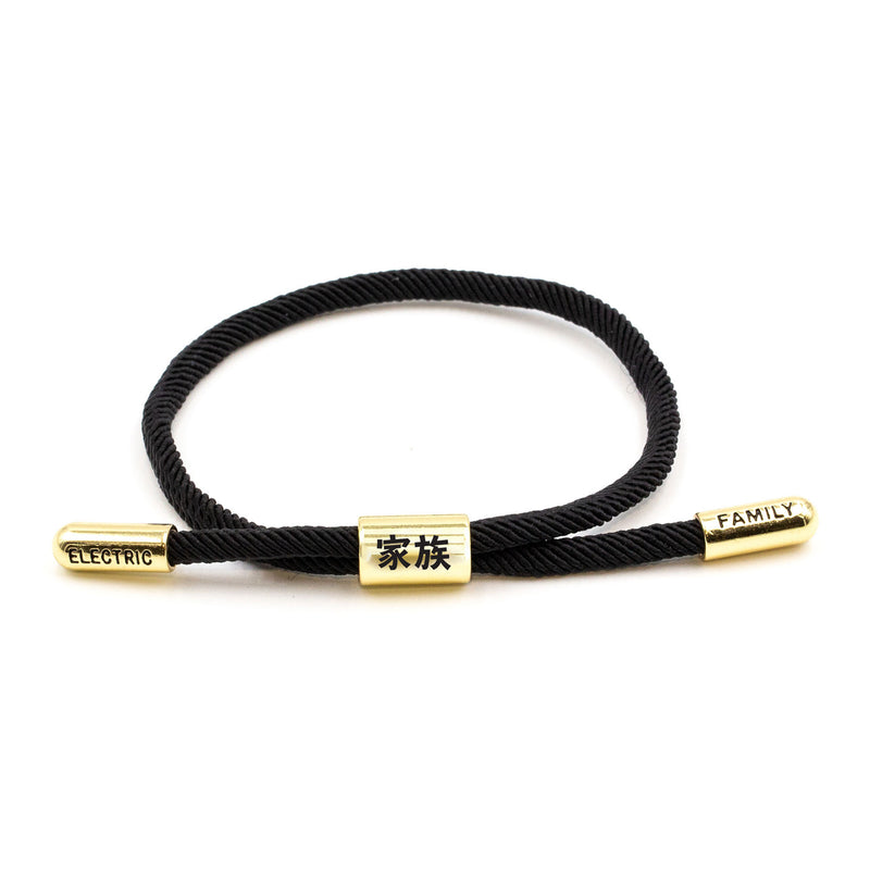 Kazoku New School (Black/Gold) - New School Bracelet -  Electric Family-  Electric Family Official Artist Merchandise