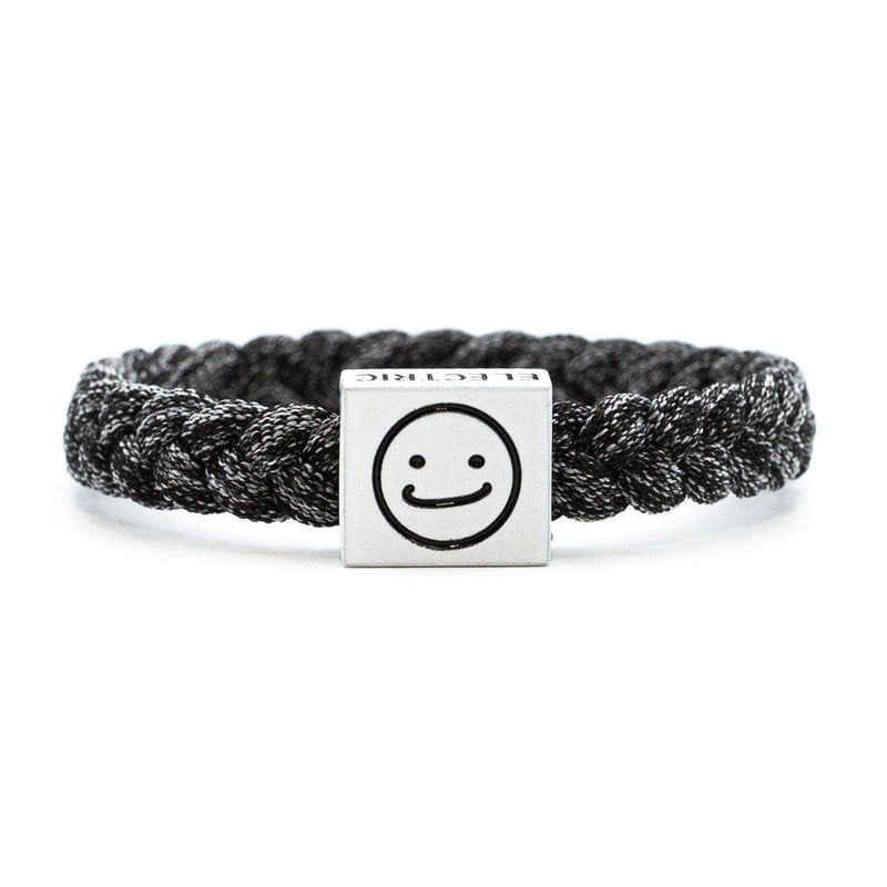 Smiley Bracelet Black - Original Woven -  Electric Family-  Electric Family Official Artist Merchandise