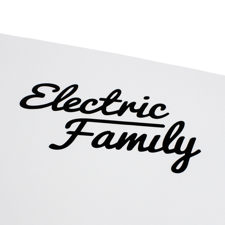 Script Vinyl Sticker - Electric Family